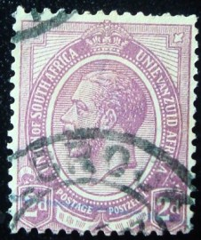Selo postal da África do Sul de 1913 King George V 2