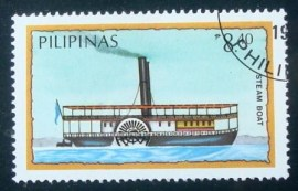 Selo postal da Filipinas de 1984 Steam Boat
