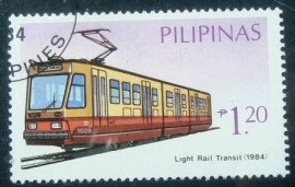 Selo postal da Filipinas de 1984 Light Rail Transit