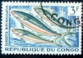 Selo postal do Congo de 1961 Rainbow Runner