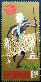 Selo postal do Burundi de 1964 Burundi dancer