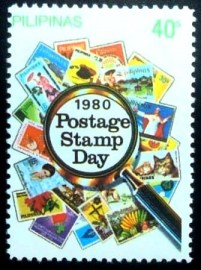Selo postal das Filipinas de 1980 Stamp Day 40