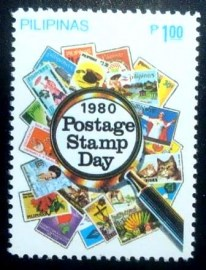 Selo postal das Filipinas de 1980 Stamp Day 1