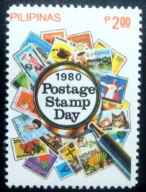 Selo postal das Filipinas de 1980 Stamp Day 2