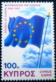 Selo postal do Chipre de 1975 Council of Europe