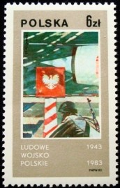 Selo postal da Polônia de 1983 Polish Peoples' Army