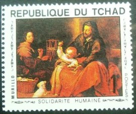 Selo postal do Tchad de 1969 Holy Family