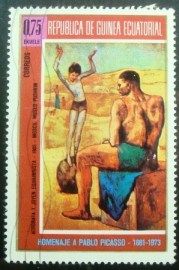 Selo postal da Guinea Equatorial de 1974 Artists