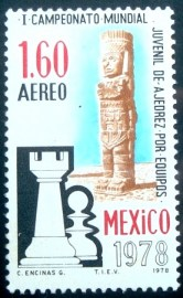 Selo postal do México de 1978 First World Youth Chess Championship