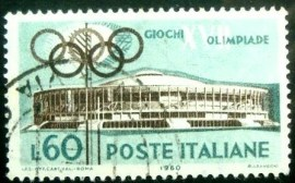 Selo postal da Itália de 1960 Sports Hall
