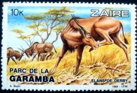 Selo postal do Zaire de 1984 Giant Eland