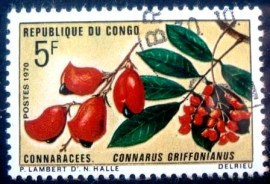 Selo postal da Rep. Popular do Congo de 1970 Connarus Griffonianus