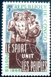 Selo postal da Rep. Popular do Congo de 1966 Athletes