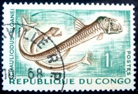Selo postal da Rep. Popular do Congo de 1961 Sloane's Viperfish