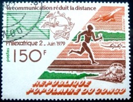 Selo postal da Rep. do Congo de1979 Stamp Exhibition Philexafrique 2