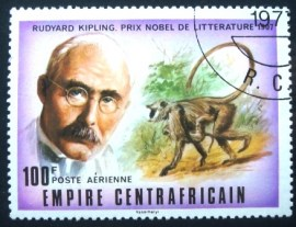 Selo postal da Rep. Centro Africana de 1977 The Jungle Book by Rudyard Kipling