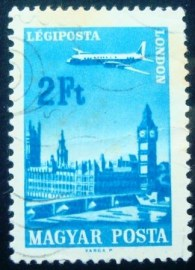 Selo postal da Hungria de 1966 London