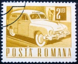 Selo postal da Romênia de 1968 Postbox Collection Service