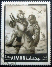Selo postal do Ajman de 1968 Soldiers