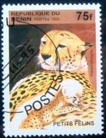 Selo postal do Benin de 1995 Cheetah