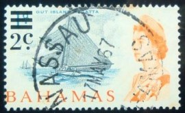 Selo postal do Buthan de 1966 Surcharged