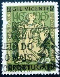 Selo postal de Portugal de 1965 Gil Vincente's Theatre Plays