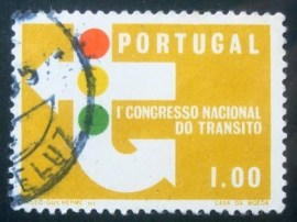 Selo postal de Portugal de 1965 Traffic Lights