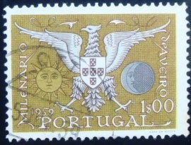 Selo postal de Portugal de 1959 Coat of Arms of Aveiro 1$