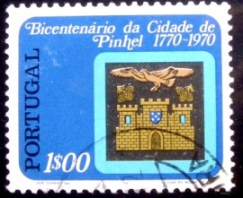Selo postal de Portugal de 1972 Coat of Arms of Pinhel perf 12x12½