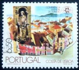 Selo postal de Portugal de 1980 Lisbon and Statue of St. Vincent