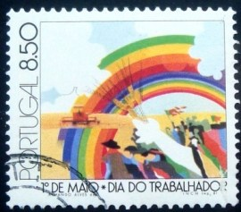 Selo postal de Portugal de 1981 May Day Agriculture