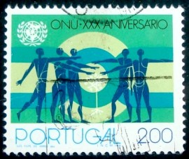 Selo postal de Portugal de 1975 People and Sapling x