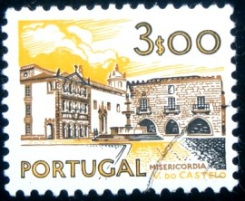 Selo postal de Portugal de 1976 Viana do Castelo Hospital