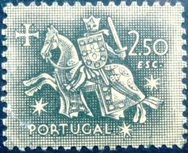 Selo postal de Portugal de 1953 Knight on horseback 2$50 - 802