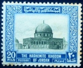 Selo postal da Jordânia de 1966 Dome of the Rock 20