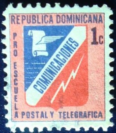 Selo postal da Rep. Dominicana de 1973 Emblem of Post