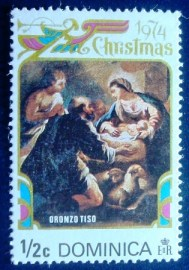 Selo postal Dominica Virgin and child