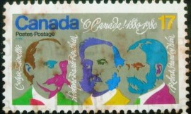 Selo postal do Canadá de 1980 O Canada National Song Composers