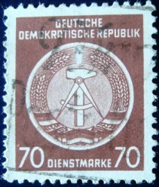 Selo postal da Alemanha de 1957 Official Stamps for Administration Post 70