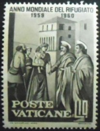 Selo postal do Vaticano de 1960 World Refugees Year
