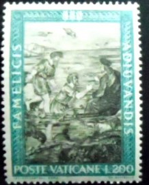 Selo postal do Vaticano de 1963 The Miraculous Draught of Fishes