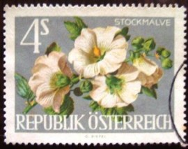 Selo postal definitivo Áustria 1964 Hollyhocks