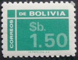 Selo postal definitivo Bolivia 1976 - Drawing numbers 1,50
