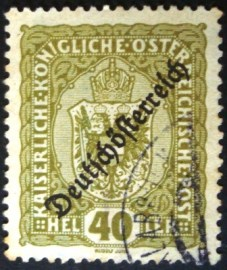 Selo postal definitivo da Áustria de 1918 Coat of arms 40