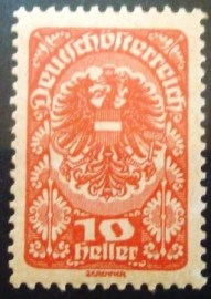 Selo postal da Áustria de 1920 Coat of arms 10