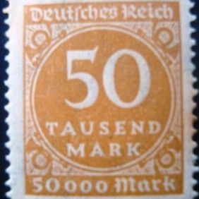1923 - Value in circle 50