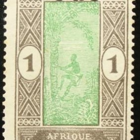 1921 - Stamp of Dahomey 1913 overloaded 10