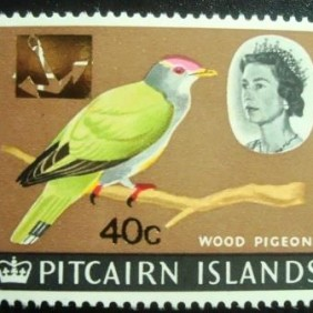 1967 - Henderson Island Fruit Dove surcharged