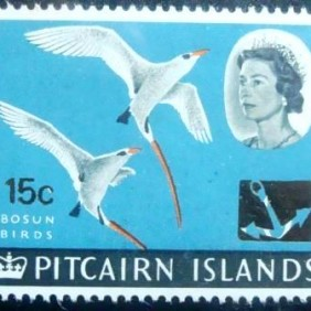 1967 - Red-tailed Tropicbird surcharged